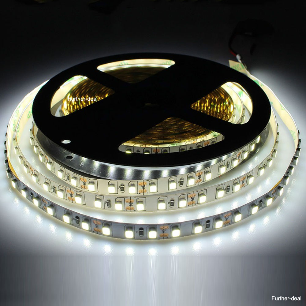cool white 5m 600leds smd 3528 led strip lights flexible ribbon ultra bright 12v. Black Bedroom Furniture Sets. Home Design Ideas