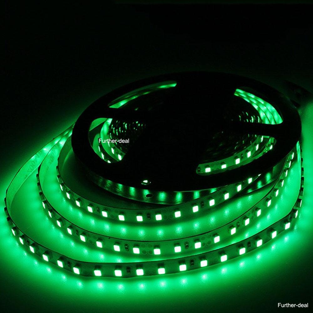 Indoor Outdoor Led Light Strip: Green 5M 600Leds SMD 3528 Led Strip Lights Flexible Tape