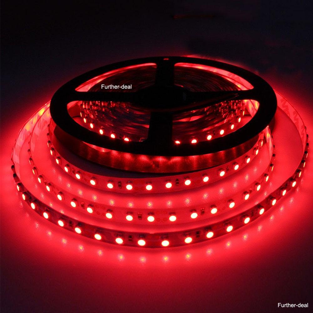 red 5m 600 leds smd 3528 led strip lights flexible diy. Black Bedroom Furniture Sets. Home Design Ideas