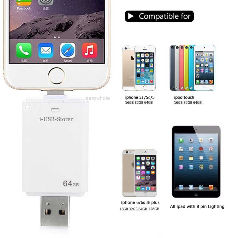 256gb usb flash drive otg memory stick for iphone 7 7s 6 6s plus 5 ipad android ebay. Black Bedroom Furniture Sets. Home Design Ideas